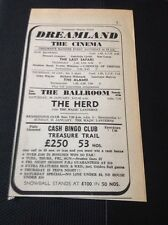 68-3 ephemera 1968 Advert Dreamland Margate The Herd Magic Lanterns The Alamo