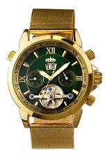 Polierte Mechanisch-(Handaufzug) Armbanduhren mit 12-Stunden-Zifferblatt für Unisex
