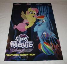 ASHLEIGH BALL SIGNED MY LITTLE PONY THE MOVIE 12X18 MOVIE POSTER 2