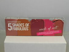 bareMinerals 5 SHADES OF FABULOUS Moxie Lipstick Pallette WORK OF ART + Brush