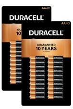 DURACELL COPPERTOP ALKALINE AA batteries 2 packs X 40 ct. FREE PRIORITY SHIPPING