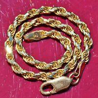 "14k 585 yellow gold bracelet 7.0"" diamond cut Italian rope chain handmade 5.7gr"