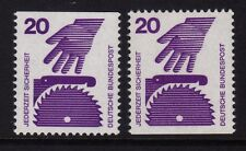 W Germania 1974 prevenzione 20pF COPPIA SG 1598a MNH