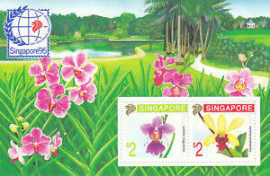 """SINGAPORE, 1995, """"ORCHIDS -  SINGAPORE 95 STAMP EXHIBITIONS"""" S/S MINT NH FRESH"""