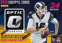 2018 Donruss OPTIC Football NFL Trading Cards 24c Ret Blaster Box=Pink Parallel