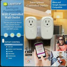 2 Intelligent Programmable WiFi Controlled Wall Outlets Capstone