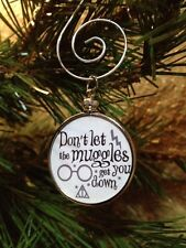 """Harry Potter doublesided Silver 1.25"""" Ornament Don't Let the Muggles White"""