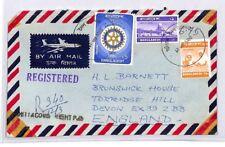 BQ259 1980 Bangladesh Devon Great Britain Airmail Cover {samwells}PTS