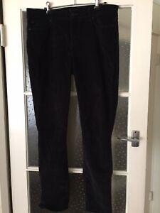 NYDJ Black Corduroy Skinny Jeans Size US 12 RRP $190
