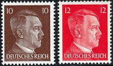 Deutsches Reich 826/27 ** 10 und 12 Pfg Freim. Ausg. im Buchdruck