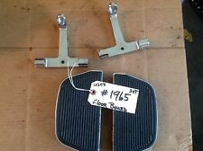 Harley Davidson Passenger Floorboards with Chrome Brackets    #1965