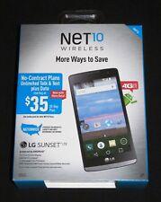 "New Sealed NET10 LG Sunset L33L 4.5"" 8GB 4G LTE Android Prepaid Smartphone-Black"