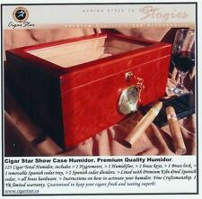 Showcase II Bubinga Cigar Star Humidor Glass Top