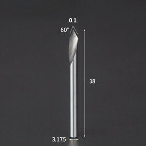 Straight V Engraving Tools 1/8 In Shank 60 Degree Milling Cutter Metal Drill Bit
