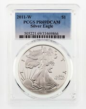 2011-W $1 Silver American Eagle Graded by PCGS as PR69DCAM