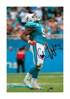 Cameron Wake (2) NFL Miami Dolphins A4 signed picture poster. Choice of frame.