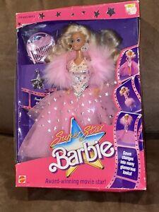 Super Star Barbie 1988 Mattel No. 1604 New in Box