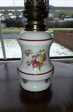 Vintage Ceramic Oil Lamp Decorated with Roses. Very Good Condition