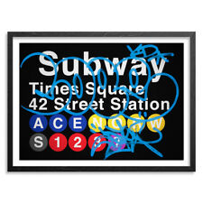 42nd St. Station/ Times Square Hand Embellished 5 color Screenprint by Cope 2