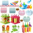 Silicone Ice Cream Mould Block 6/7/8/10 Frozen Molds Icy Pole Jelly Popsicle TR