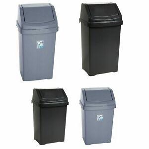 Wham Plastic Swing Top Bin 25L/50L Home Kitchen Office Rubbish Waste Dust Bins