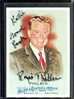Regis Philbin Topps Allen & Ginter Signed Card Authentic Autograph Signature *2