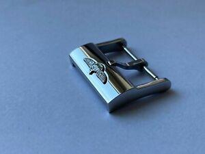 BREITLING FIBBIA PIN BUCKLE 20mm Dornschließe per cinturino originale