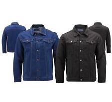 Men's Classic Multi Bolso botão para cima Caminhoneiro Casual Denim Stretch Jaqueta Jeans