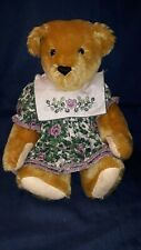 """Vtg. Vermont Teddy Bear Co.14"""" Mohair Bear made for stores only New -L Edition"""