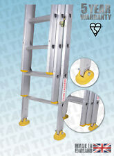 More details for titan aluminium classic trade ladders - with fitted swivel feet - double, triple