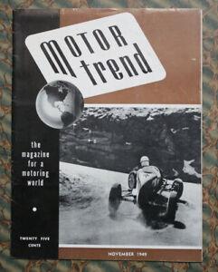 MOTOR TREND #3 1949 Cadillac Custom Cars Racing SCCA Pikes Peak Race Vintage old