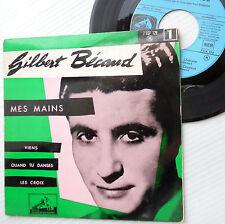 GILBERT BECAUD France 4song ep PS 45 MES MAINS Viens Quand Tu Danse Les Croix H5