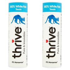 2 x thrive Cat 100% White Fish Treats Snack Tube 15g - Real Natural Freeze Dried