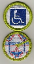"Disability Awareness Merit Badge, Type L, ""Since 1910"" Back (2012-Current)"