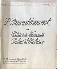 """BRUNELLESCHI  ILLUSTRATIONS POUR """"L'AMEUBLEMENT AU PALAIS DE LA NOUVEAUTÉ"""""""