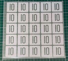 Pack x25 Patch Flocage Numéro au Choix Maillot entrainement Survêtement OM - PSG