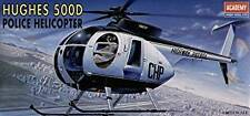 Academy 1:48 Hughes 500D Police Helicopter Kit With Motorcycle Airfix Revell