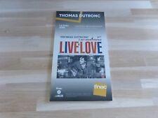 THOMAS DUTRONC - Live is love !!! PLV / DISPLAY 14 X 25 CM