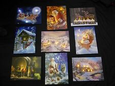 Christmas Pictures Decoration LED Light Up Timer Xmas Canvas Wall Art Print