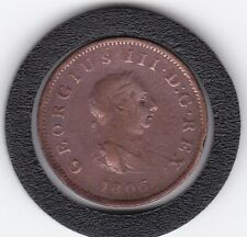 1806   King  George   III   Half  Penny   Copper  Coin