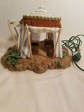 "Fontanini Nativity King's Tent 50153 blue striped 1996 Roman IncLighted 5"" Scale"