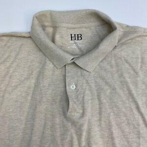 Harbor Bay Polo Shirt Mens 4XLT Tan Short Sleeve Casual Golf