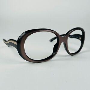 PRADA eyeglasses BLACK + BROWN ROUND  glasses frame MOD: SPR08L