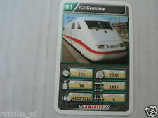22 SUPER TRAIN B1 ICE GERMANY  TREIN KWARTET KAART, QUARTETT CARD