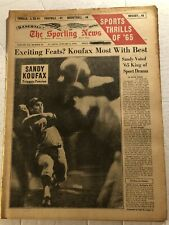 1966 Sporting News LOS ANGELES Dodgers SANDY KOUFAX No Label WILLIE MAYS Feature