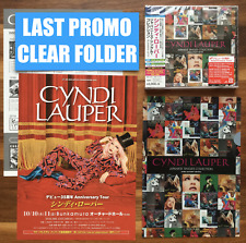 LAST JAPAN CLEARFILE+BS CD+DVD+5FLYERS! CYNDI LAUPER JAPANESE SINGLES COLLECTION