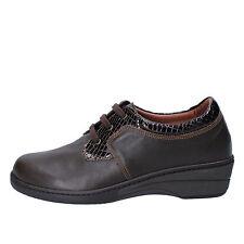 scarpe donna SUSIMODA 37 sneakers marrone vernice pelle AD864