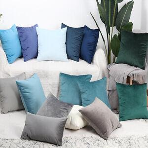 Kissenbezug 40x40 50x50 60x60 Kissenhülle Dekokissen Dekoration Samt Velvet Sofa