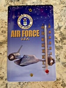 United States Air Force SR-71 Blackbird Thermometer Magnet // Free Shipping