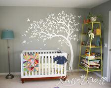 White Tree Wall Decal Nursery tree sticker baby room wall art decor mural KW032